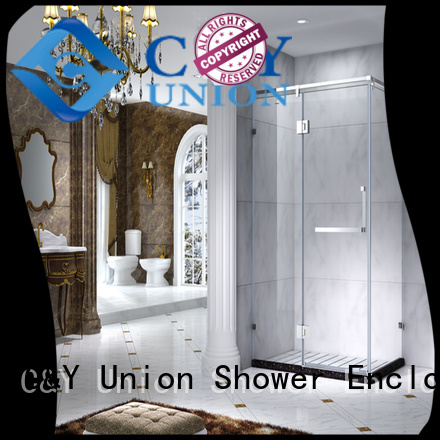 stainless steel framed glass shower manufacturer for standalone showers