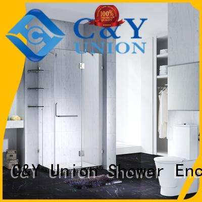 C&Y Union frameless shower enclosure easy clean for bathtub