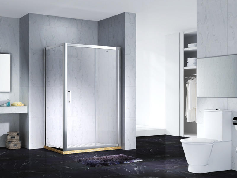 elegant semi framed shower with sliding door for bagnio-2
