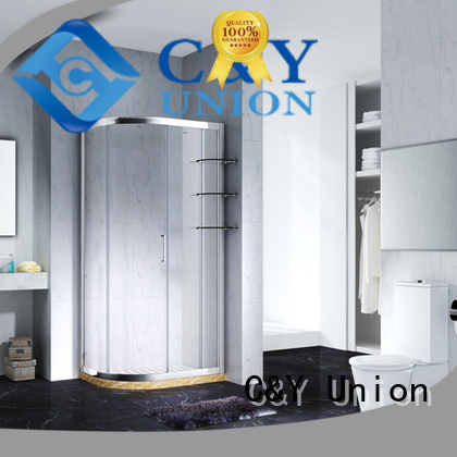 C&Y Union custom framed shower doors for tub for corner