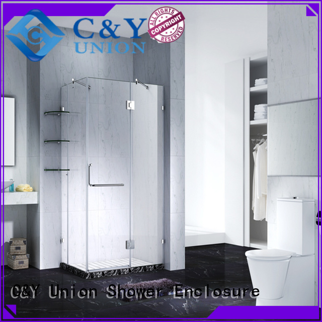C&Y Union frameless glass shower shower screen for bagnio