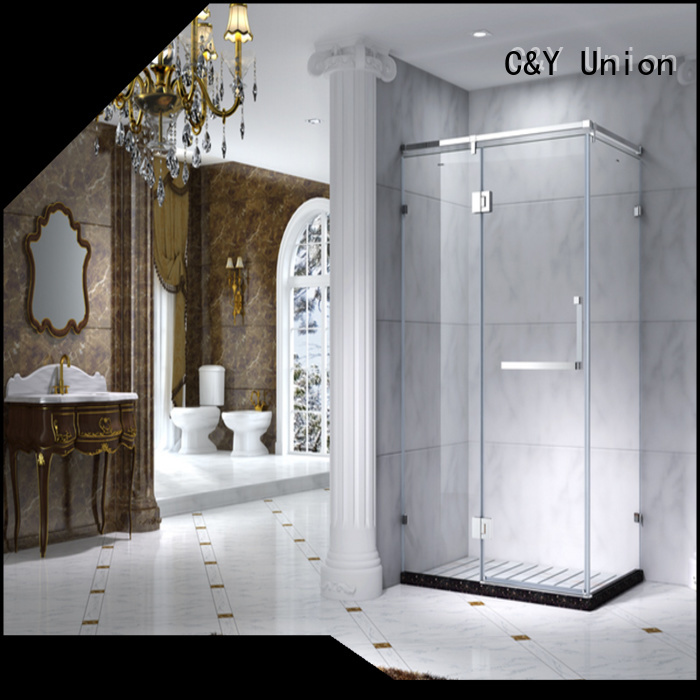 C&Y Union aluminum framed shower glass doors cy1142 for bagnio