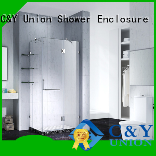 C&Y Union frameless shower enclosure shower screen for bagnio