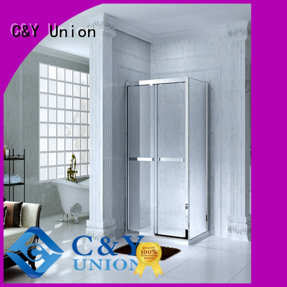 C&Y Union durable semi framed shower door for bathroom
