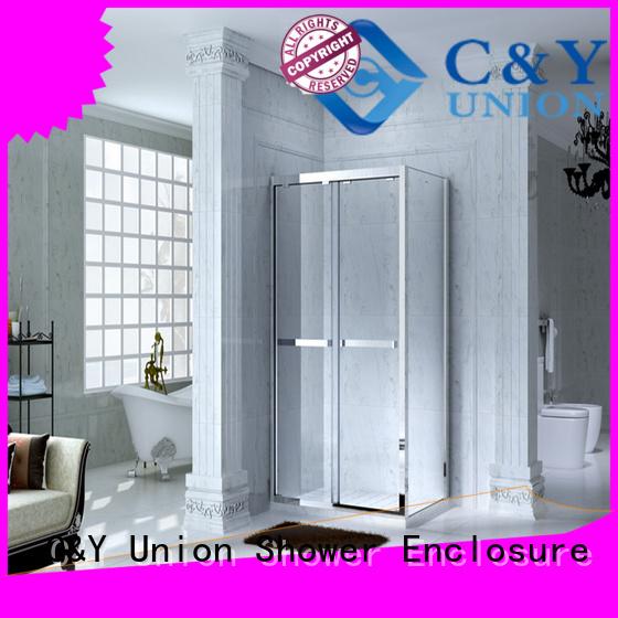 C&Y Union durable semi framed shower for tub for bathtub showers