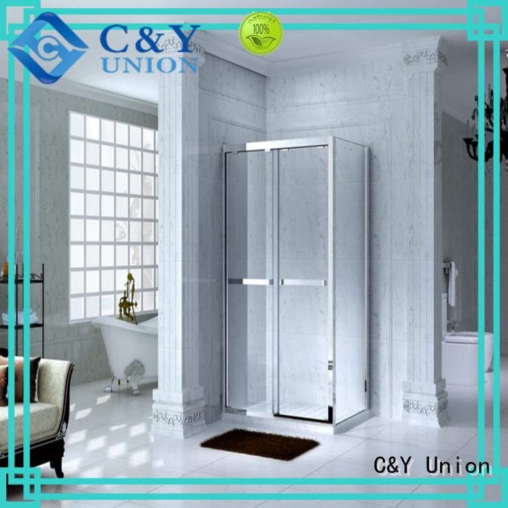C&Y Union elegant semi framed shower for tub for bathtub showers