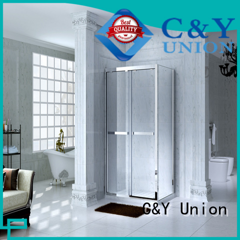 C&Y Union colorful framed glass shower with sliding door for bath