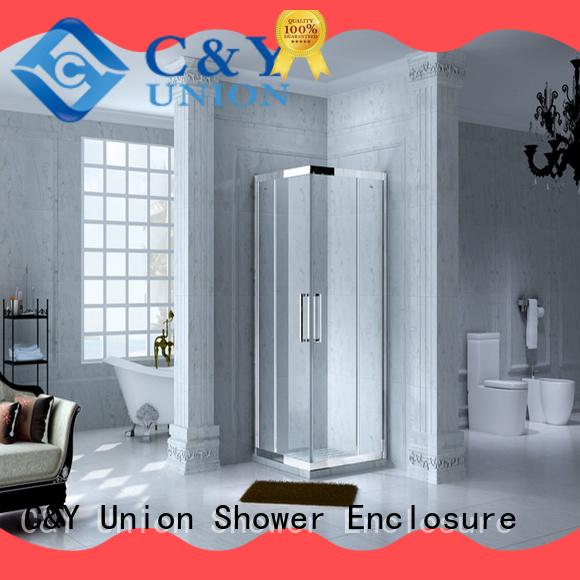 C&Y Union elegant custom framed shower doors for sale for corner