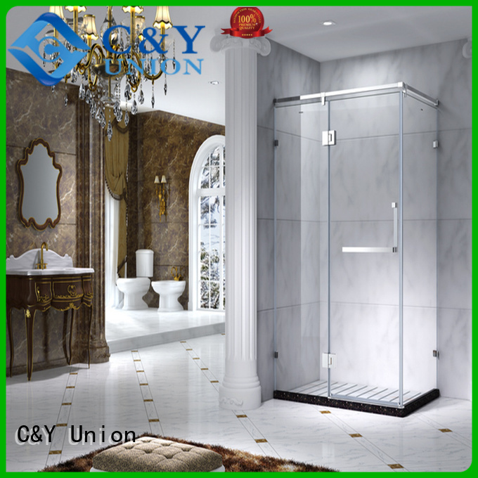 C&Y Union colorful framed glass shower cy1231 for alcove