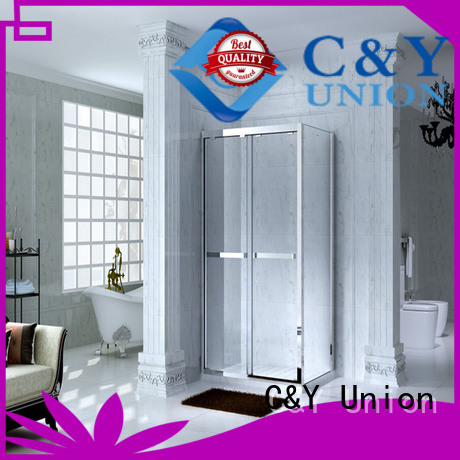 C&Y Union elegant custom framed shower doors for tub for bath