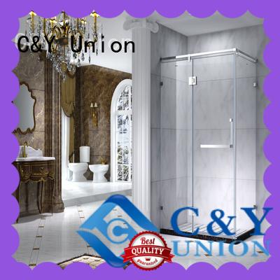 C&Y Union practical framed glass shower enclosure for sale for bathtub showers