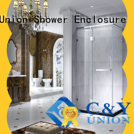 C&Y Union custom framed shower doors for shower room