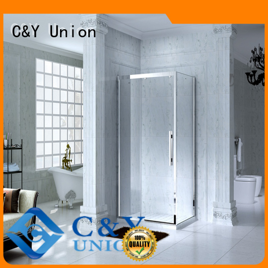 C&Y Union durable semi framed shower door for sale for standalone showers