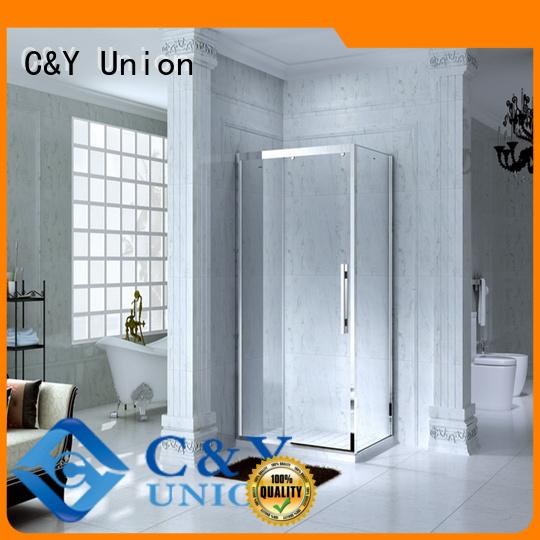 C&Y Union aluminum semi framed shower door for sale for bathroom