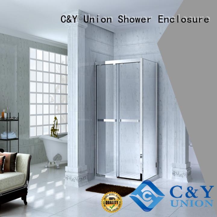 C&Y Union elegant framed glass shower enclosure for tub for corner