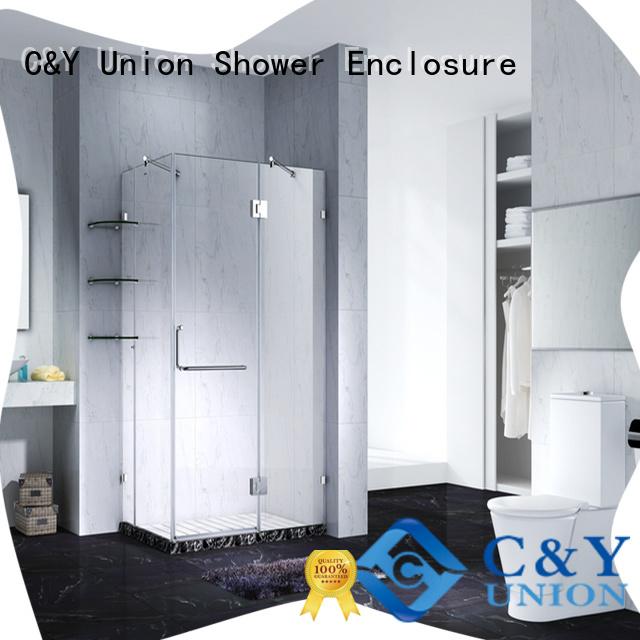 C&Y Union frameless shower cabin for tub