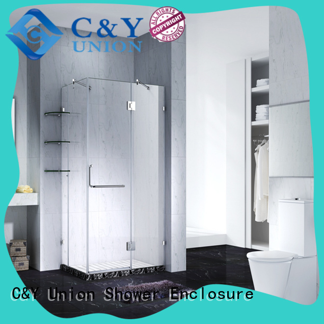 C&Y Union frameless shower screen cubicles for tub