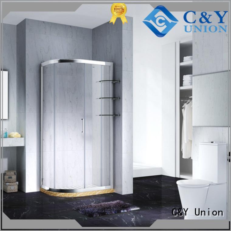 aluminum framed glass shower enclosure manufacturer for standalone showers