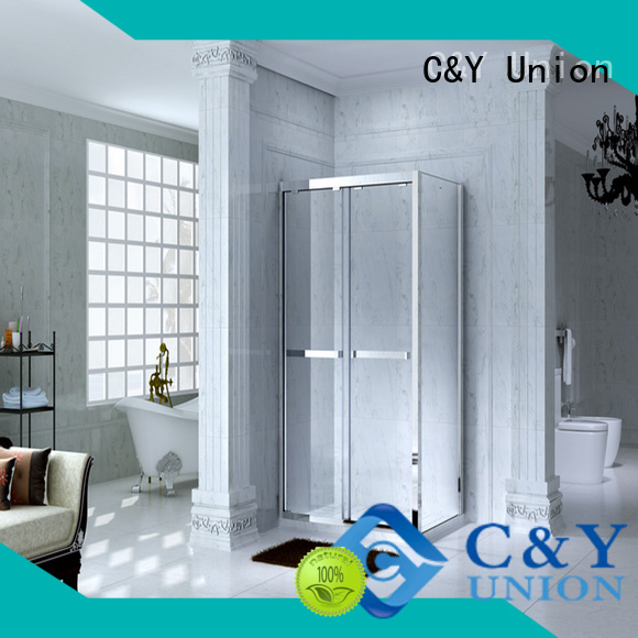 C&Y Union framed glass shower for tub for shower room