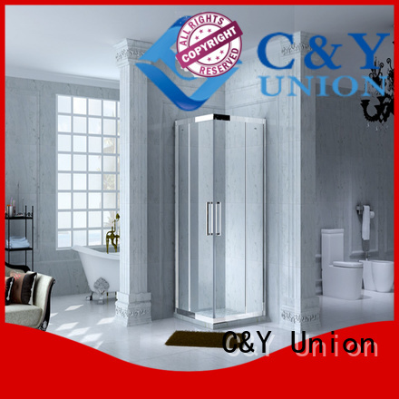C&Y Union colorful framed glass shower door for sale for alcove