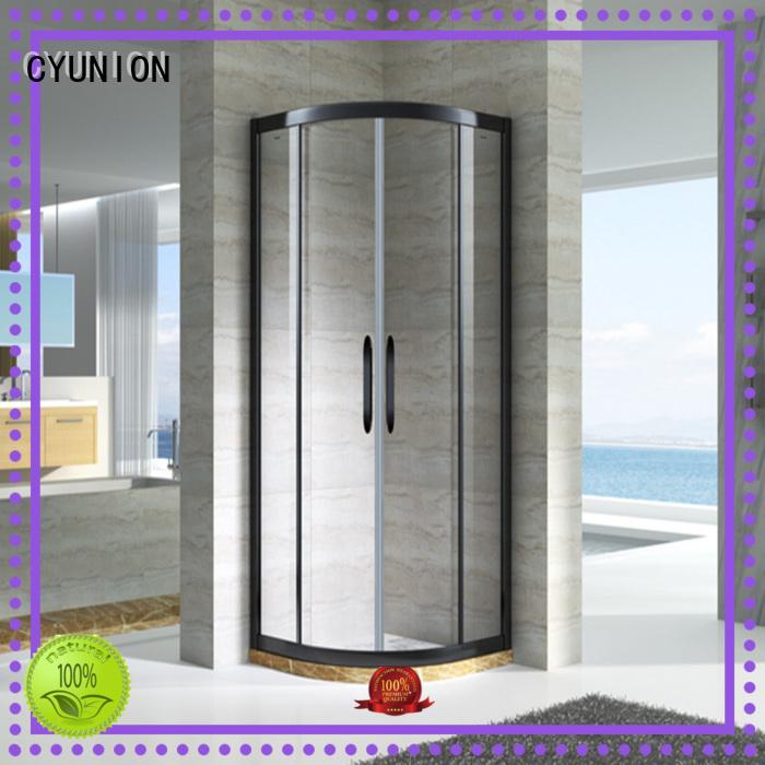 Hot glass shower doors for tub framed CYUNION Brand