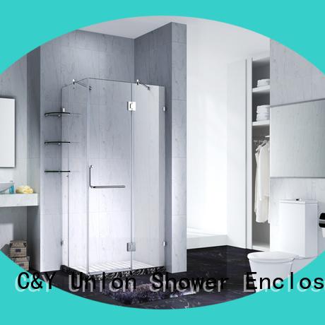 frameless sliding glass shower doors shower for bathtub C&Y Union