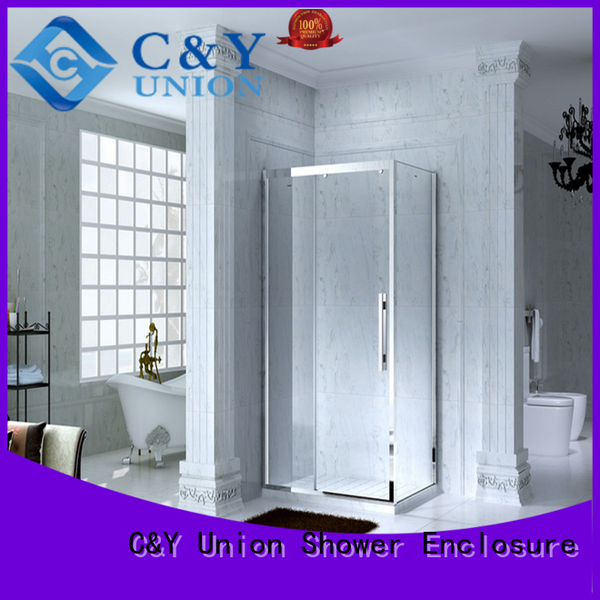 C&Y Union quadrant framed glass shower for sale for standalone showers