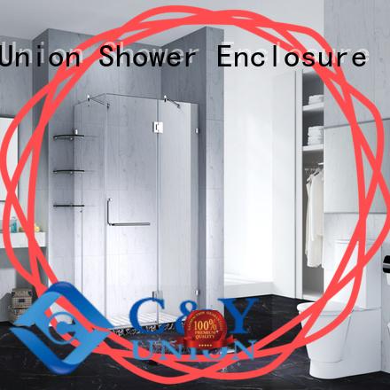 firm frameless glass shower doors for shower room
