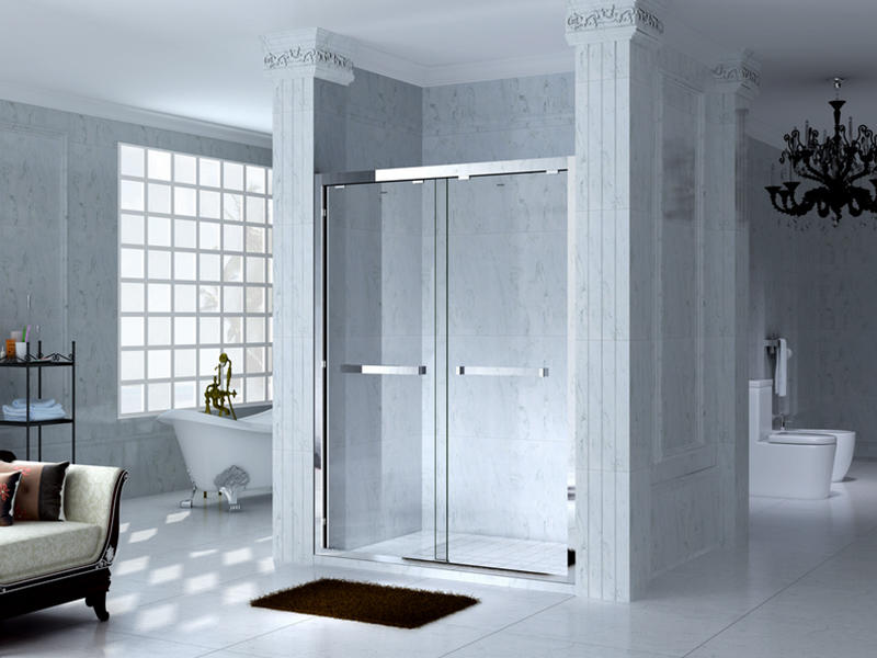 durable framed glass shower with sliding door for bagnio-3