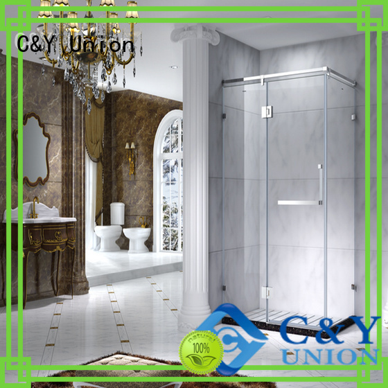 C&Y Union aluminum framed glass shower door for sale for shower room