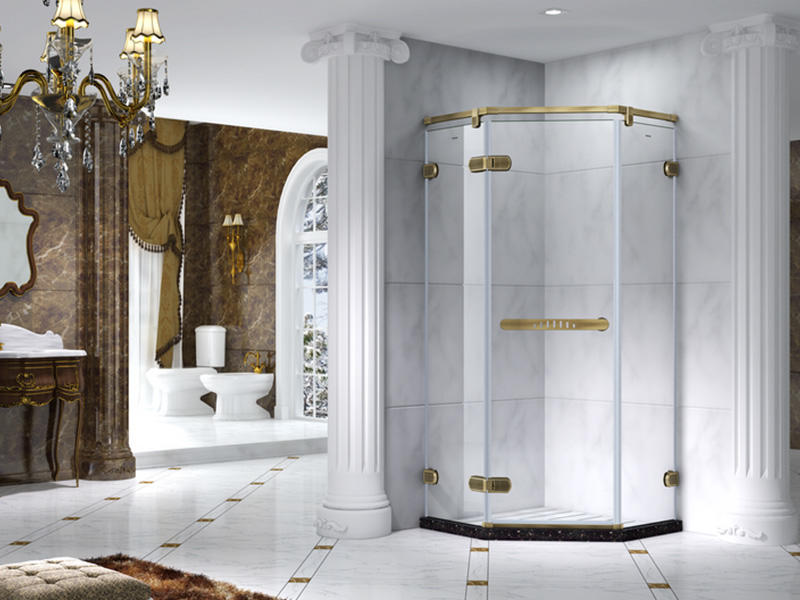 C&Y Union elegant semi frameless shower door cabin for shower room-3