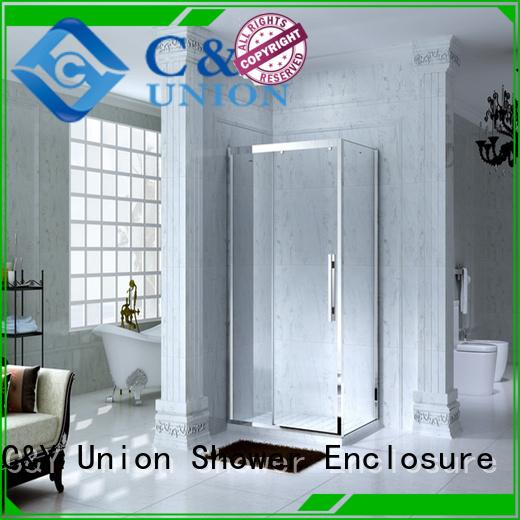 C&Y Union popular framed glass shower enclosure for tub for bath