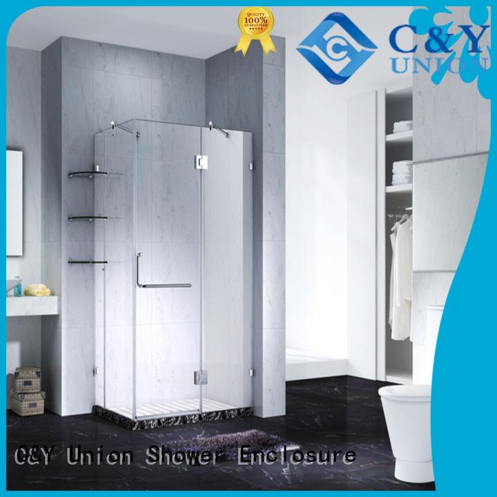 C&Y Union door frameless sliding shower doors cabin for bathtub
