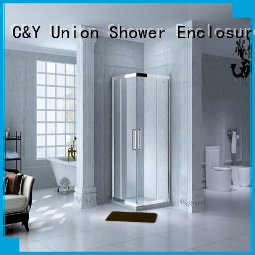 C&Y Union stainless steel framed glass shower enclosure for sale for standalone showers