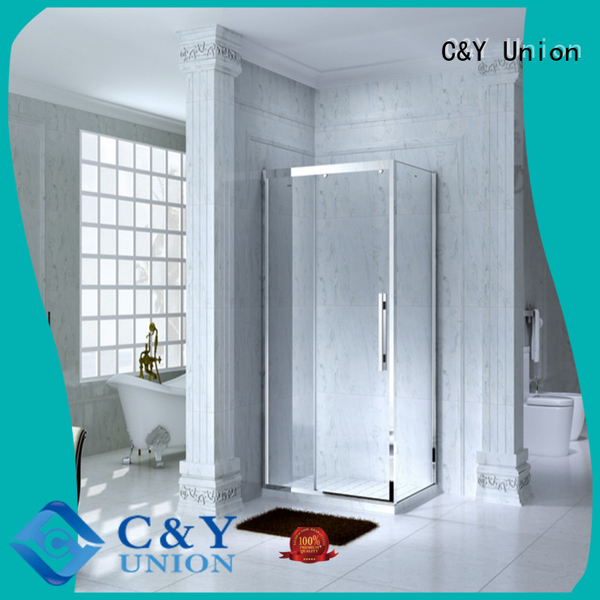 adjustable framed glass shower door for tub for bathroom