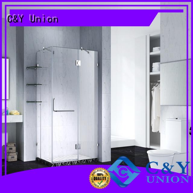 C&Y Union frameless shower shower screen for bathtub