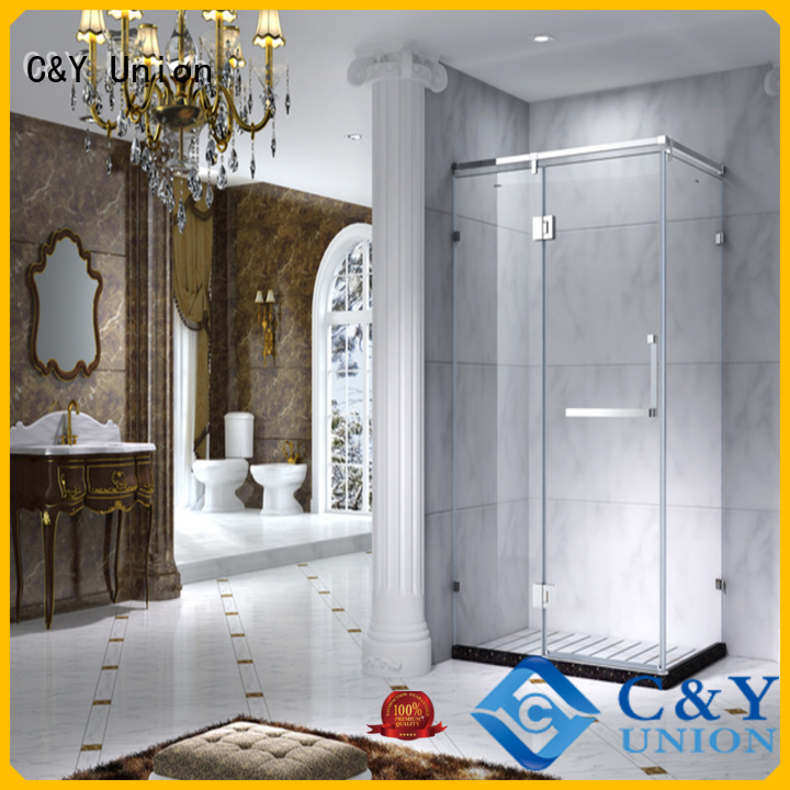 C&Y Union semi framed shower door manufacturer for standalone showers
