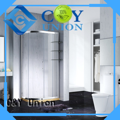 aluminum shower cabin with sliding door for alcove