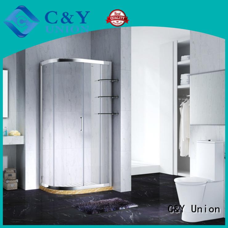 C&Y Union framed glass shower door manufacturer for shower room