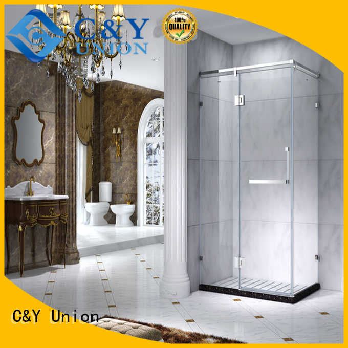 C&Y Union framed shower glass doors for bagnio
