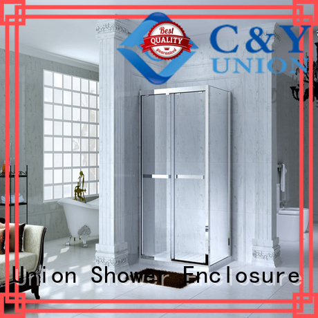 C&Y Union aluminum framed shower glass doors manufacturer for bathtub showers