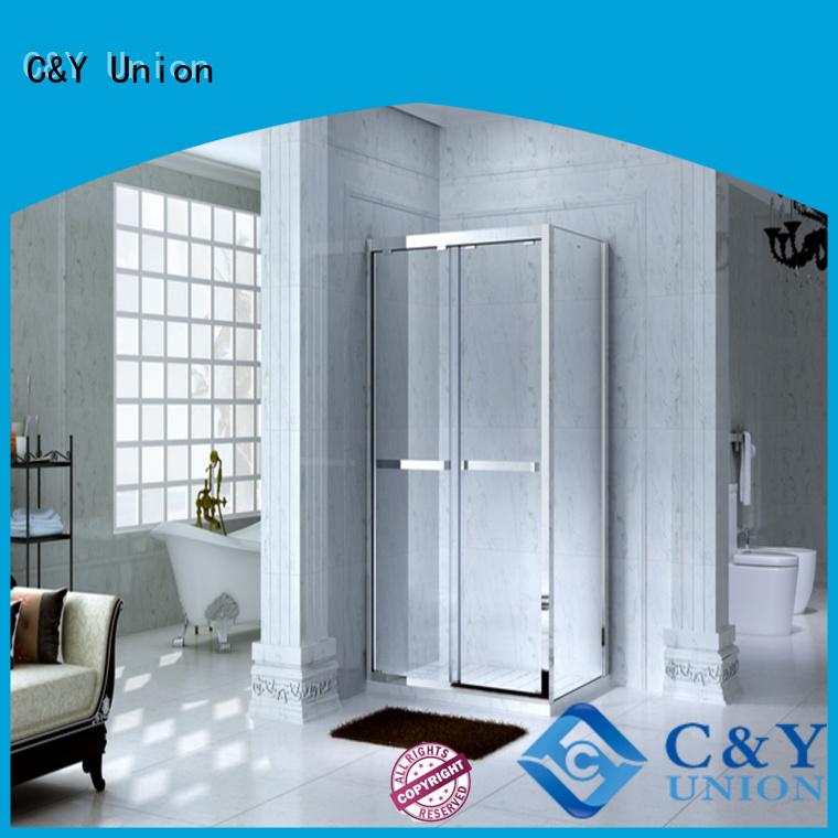 C&Y Union framed glass shower for shower room
