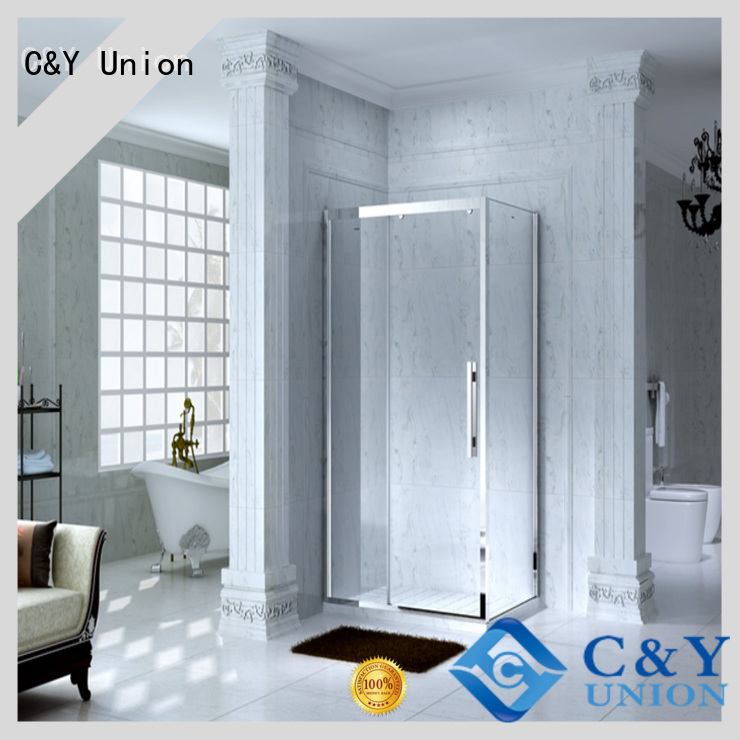 C&Y Union popular framed shower glass doors for tub for bagnio