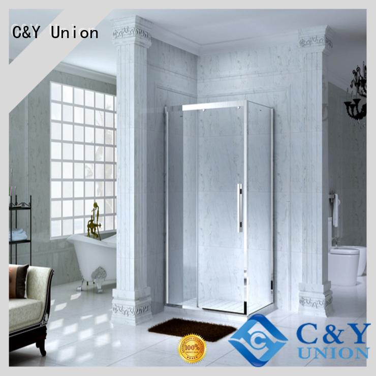 C&Y Union popular framed glass shower for corner