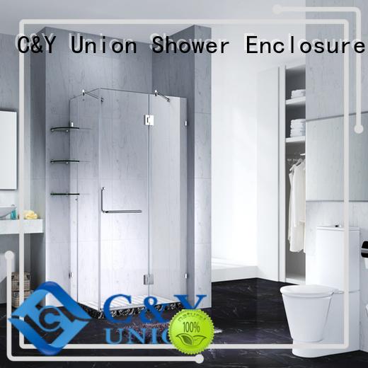 C&Y Union stable frameless shower enclosure shower screen for bathroom