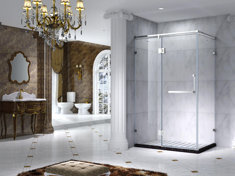 C&Y Union aluminum semi framed shower door manufacturer for standalone showers-1