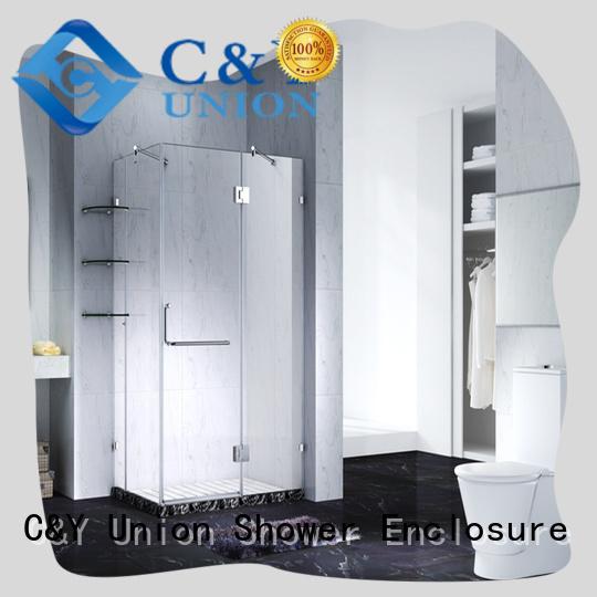 C&Y Union stable frameless sliding glass shower doors cy12421 for shower room