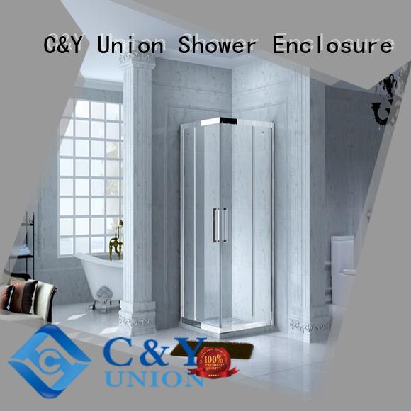 C&Y Union semi framed shower door with sliding door for shower room