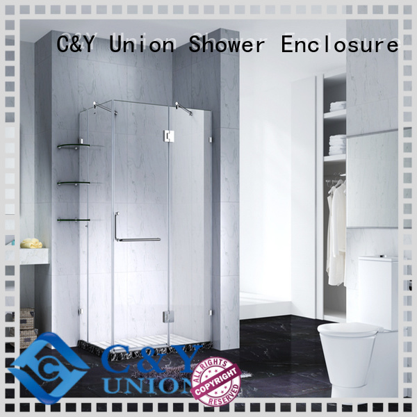 C&Y Union stable frameless shower screen for bathroom