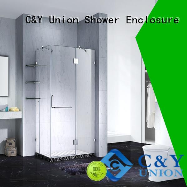 practical frameless shower cubicles for bathroom